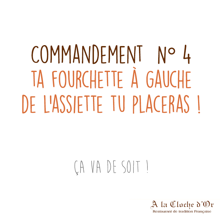 Commandement la fourchette